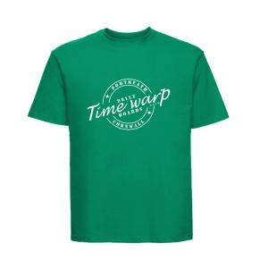 timewarp bellyboards sea green teeshirt
